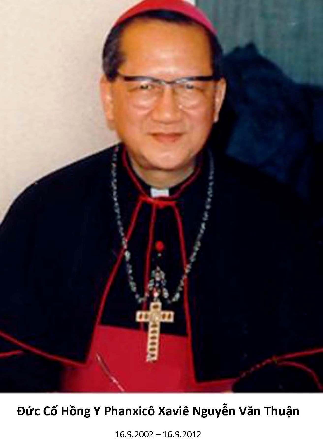 Hình Ảnh Mừng Lễ kỷ niệm 10 năm ngày Thiên Chúa gọi Đức Cố Hồng Y Phanxicô Xaviê Nguyễn Văn Thuận, Tôi tớ Chúa, ra khỏi thế gian ngày 16/9/2012