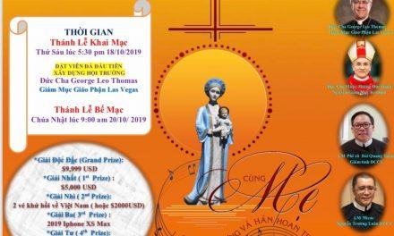 Thông Tin Đại Hội Đức Mẹ La Vang Las Vegas Kỳ XII Năm 2019